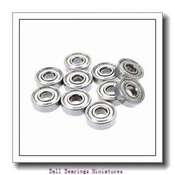 3mm x 8mm x 4mm  ZEN sf693-2z-zen Ball Bearings Miniatures